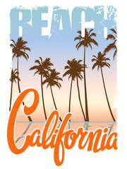 California beach T-shirt Print
