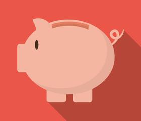 Piggy icon design