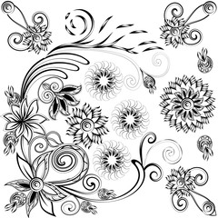 black and white picture for coloring book
