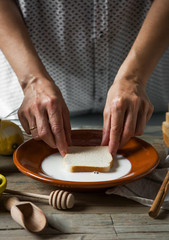 Chef preparing French toast