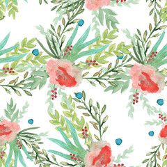 Background of spring flowers. seamless pattern. watercolor