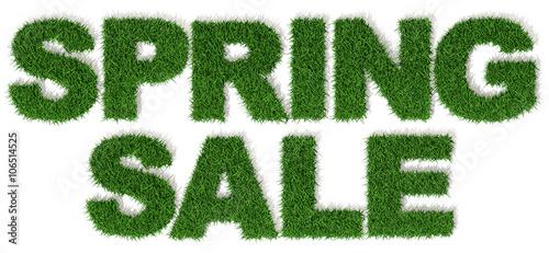 Saldi E Sconti Di Primavera Spring Sale 3d Prato Erba Verde