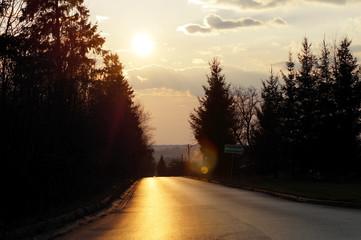 Zachód słońca Wiosną