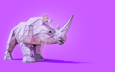 Origami Rhino Low Poly and Creativity Design