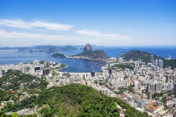 Sugarloaf Mountain and Rio de Janeiro Cityscape, Brazil.