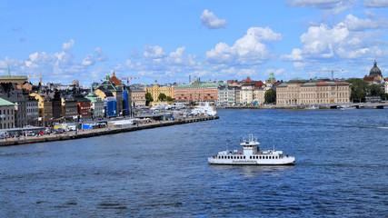 Stockholm - Schiff nach Djurgarden