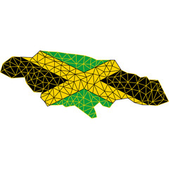 Map and flag of Jamaica / Mapa y la bandera de Jamaica / Карта и флаг Ямайки