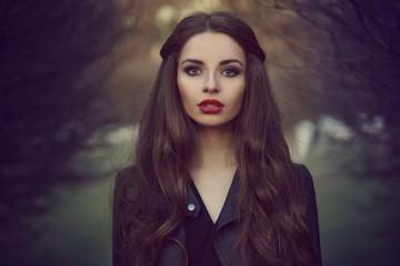 Art portrait of beautiful girl