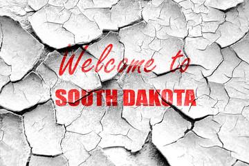 Grunge cracked Welcome to south dakota