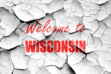 Grunge cracked Welcome to wisconsin