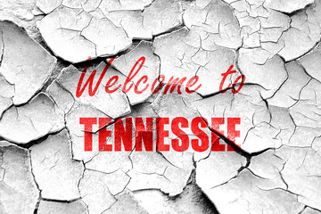 Grunge cracked Welcome to tennessee