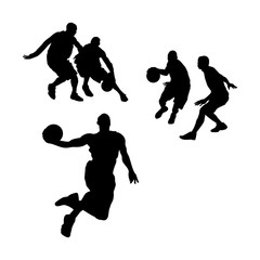 action basketball silhouette illustration
