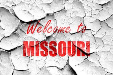 Grunge cracked Welcome to missouri