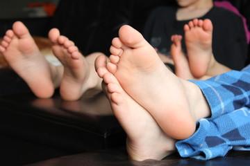 Boys' feet