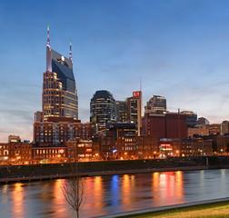 Fototapete - Nashville at Sunset