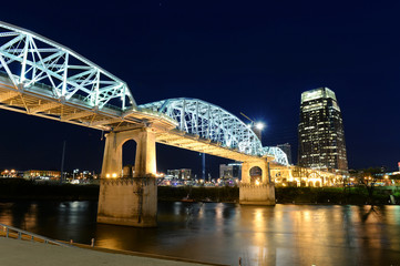 Aufkleber - Shelby Bridge in Downtown Nashville