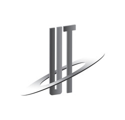 UT initial logo with silver sphere