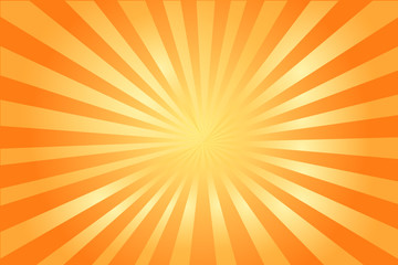 Orange color  background cartoon shine.