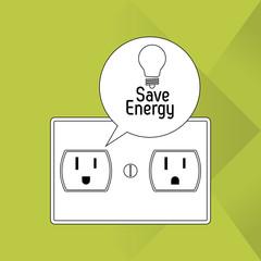 Save Energy icon design, Vector illustration