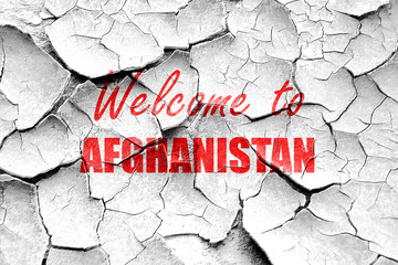 Grunge cracked Welcome to afghanistan