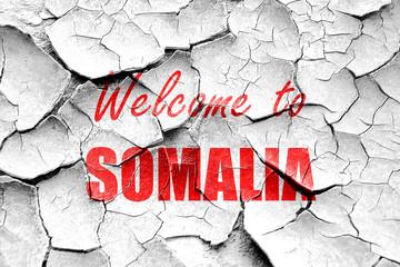 Grunge cracked Welcome to somalia