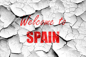Grunge cracked Welcome to spain