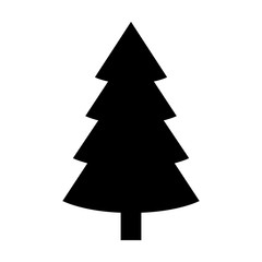Evergreen conifer / pine tree flat stylized icon for apps and websites