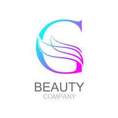 Abstract letter G logo design template with beauty industry and fashion logo.cosmetics business, natural,spa salons. yoga, medicine companies and clinics