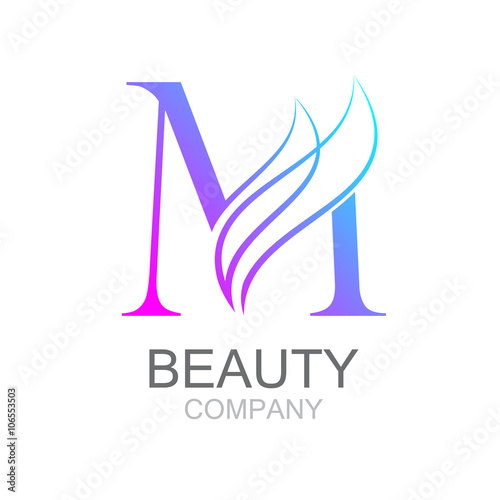 Abstract Letter M Logo Design Template With Beauty Industry And Fashion Logocosmetics Business