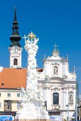 Fotomurales - Rathausplatz, Sankt Polten, Lower Austria, Austria