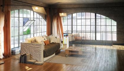 Postindustiral Loft Design (vision)