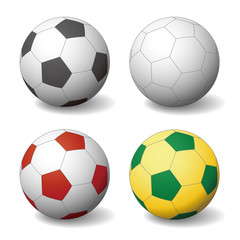 soccer ball, football, vector illustration
