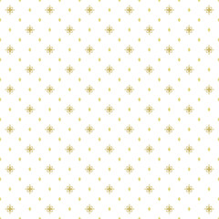 Seamless geometric modern vector pattern. Fine ornament with golden dotted elements