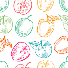 background of colorful apples