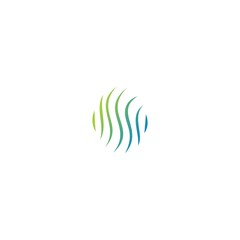 round swirl business logo