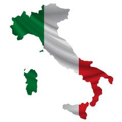 イタリア  国旗 地図 アイコン