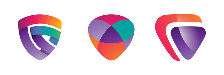 Colorful Abstract Shield Logo Design