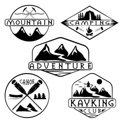 mountaineer photos royalty free images graphics vectors videos Patrol Boots kayaking c ing climbing and adventure vintage labels set