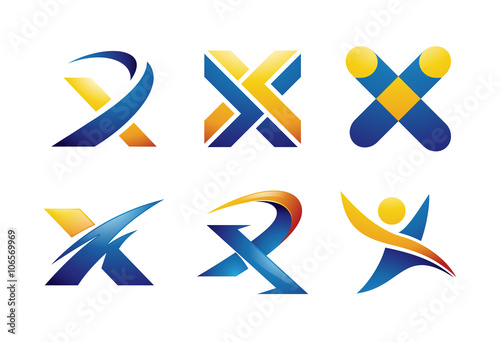 """Letter X Logo Design Elements"" Stock image and royalty ..."