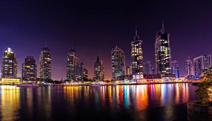 Modern buildings in Dubai Marina, Dubai, UAE