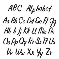Hand drawn ABC letters. Alphabet.