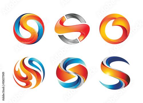 Letter s logo design elements stock image and royalty free vector letter s logo design elements altavistaventures Images