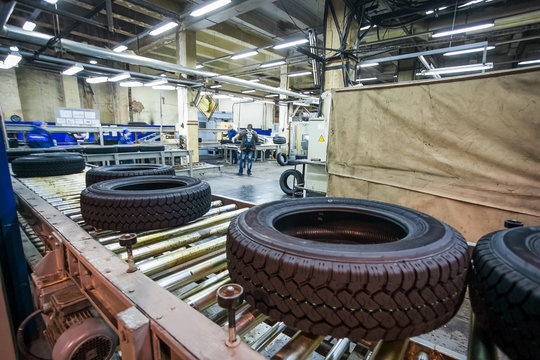 tyre production conveyor at bright factory