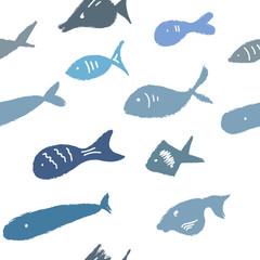 Бесшовный паттерн «Рыбки»