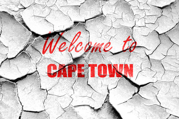 Grunge cracked Welcome to cape town