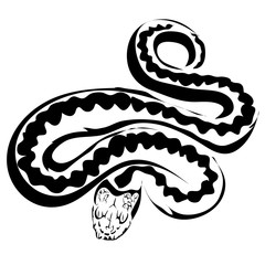 Outline snake vector image. Can be use for logo and tattoo
