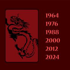 Year animal dragon vector image