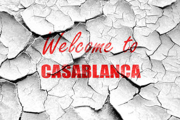 Grunge cracked Welcome to casblanca