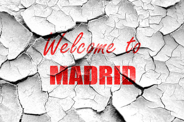 Grunge cracked Welcome to madrid