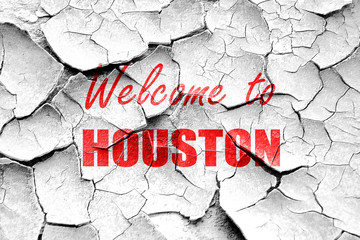 Grunge cracked Welcome to houston